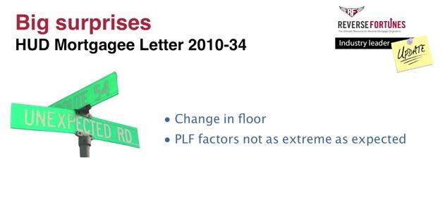 Reverse Mortgage Floor Change