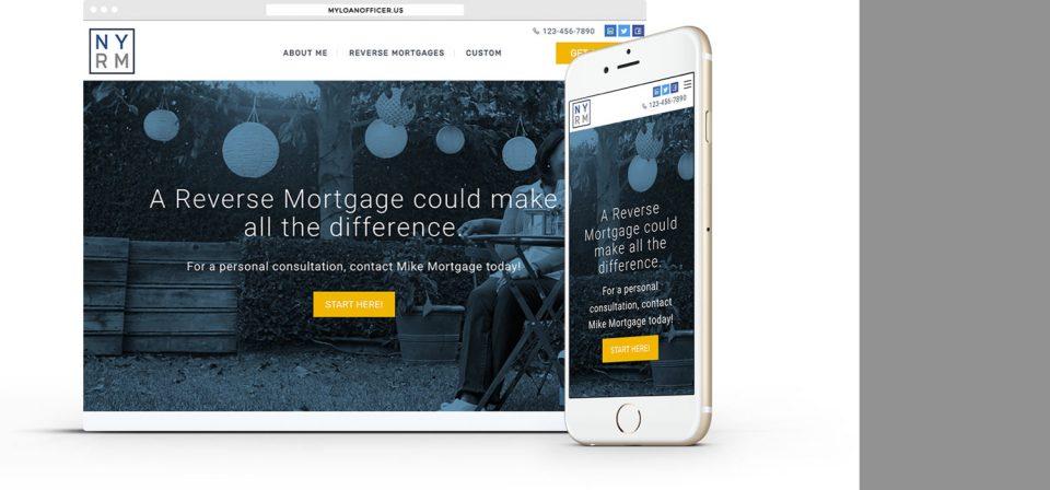 custom reverse mortgage website turnkey